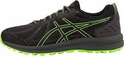 ASICS 1011A585-001: Men's Frequent Black/Green Gecko Trail R