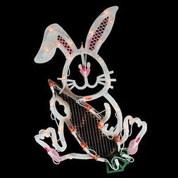 """Northlight 18"""" Lighted Easter Bunny Rabbit Spring Window Sil"""