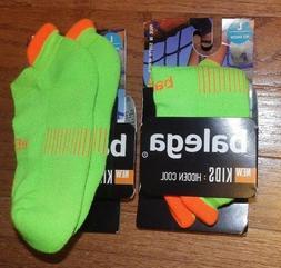 2 Pair New L Balega Kids Hidden Cool No Show Running Socks L
