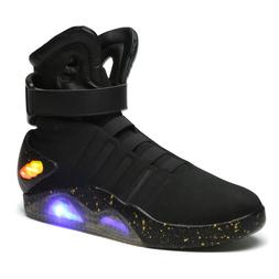 2020 Fashion Men's Running Shoes LED High Top Black Lace Up