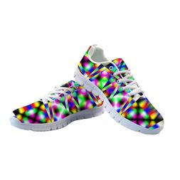 3D Mix Color Women's Sneakers Flats Summer Mesh Sport Shoes