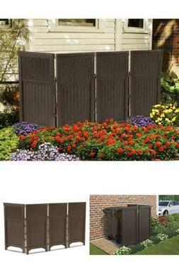 4 Panels Patio Screen Enclosure Outdoor Garden Yard Fence Fu