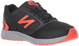 New Balance Unisex 455v1 Running Shoe, Black/Flame, 4.5 M US