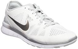 Nike Womens Free 5.0 TR Running Shoe White/Pure Platinum/Met