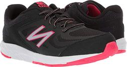 New Balance Girls' 519v1 Running Shoe, Black/Rainbow, 1 M US