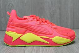 56 Womens Puma RS-X Soft Case Pink Alert/Yellow Running Shoe