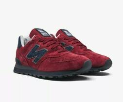 New Balance 574 Classics Low Running Shoes Red Navy US574XAD