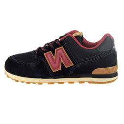 New Balance 574 Suede Big Kids' Shoes Black-Earth Red GC574-