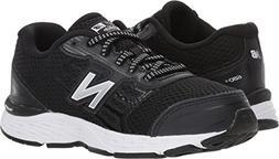 New Balance Boys' 680v5 Running Shoe Black/White 5.5 W US Bi