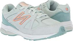 New Balance Girls' 888v1 Running Shoe, Ocean air/Dragonfly,