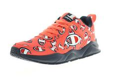 Champion 93 Eighteen Repeat C Mens Red Canvas Casual Low Top