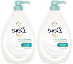 Dove Body Wash, Sensitive Skin Pump, 34 Ounce