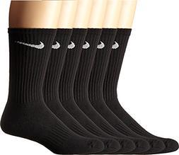 NIKE Unisex Performance Cushion Crew Socks with Bag , Black/