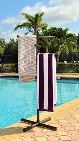 Pool & Spa Towel Rack Bronze Premium Extra Tall Towel Tree O