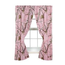 Realtree AP Pink Rod Pocket Drape, 2 Panels, 2 Tie-backs, 63