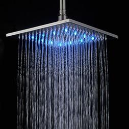 Rozin Bathroom 10-inch LED Changing Color Rainfall Shower He