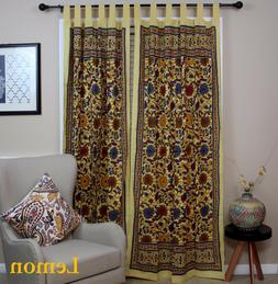 Sunflower Tab Top Cotton Curtain Drape Door Panel Window Lem