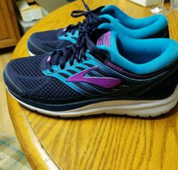 Brooks Addiction 13 Running Shoes, Blue/Teal/Purple, Womens