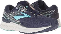 Brooks Women's Adrenaline GTS 19 Navy/Aqua/Tan 7.5 D US