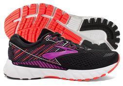 Brooks Adrenaline GTS 19 Womens Shoe Black/Purple/Coral mult
