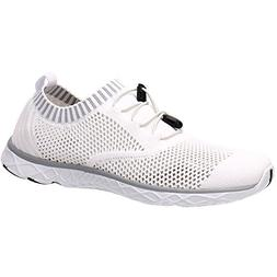 ALEADER Men's Adventure Aquatic Water Shoes White/Gray 9 D U