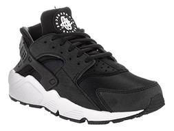 NIKE Women's Air Huarache Run Black/Black-White Ankle-High R
