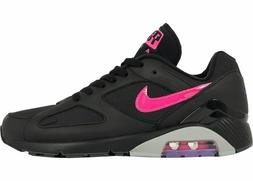 NIKE AIR MAX 180 MEN'S BLACK/PINK/GREY RUNNING SHOES sz 10,
