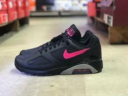 Nike Air Max 180 Mens Black/Pink Running Shoes AQ9974-001 Mu