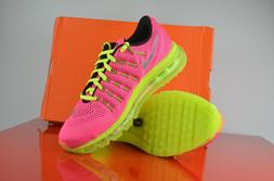 Nike Air Max 2016  Girls Gs Big Kids Pink Volt Running Shoes