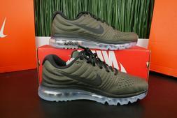 Nike Air Max 2017 Athletic Running Shoes Cargo Khaki/Black 8