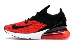 Nike Air Max 270 Flyknit Shoes Chili Red Black White Bred $1