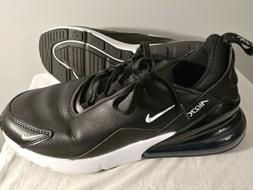 Nike Air Max 270 PRM Leather Black White Men Running Shoes S