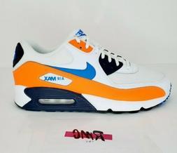 Nike Air Max 90 Essential White Blue Orange AJ1285-104 Runni