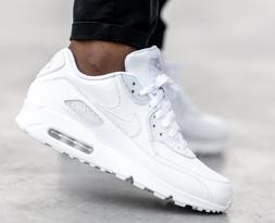 Nike Air Max 90 Leather Triple White 302519-113 Running Shoe