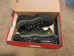 Nike AIR MAX 95 Mesh Running Shoes GREEN PURPLE 609048 500 M