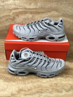 Nike Air Max Plus TN Wolf Grey Black Running Shoes Mens Mult