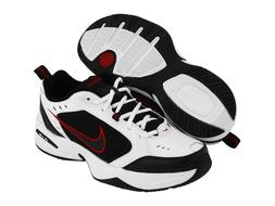 Nike AIR MONARCH IV Mens White Black Red 101 Lace Up Running