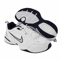 Nike AIR MONARCH IV Mens White Silver Navy 102 Lace Up Runni