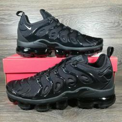 NikeAir VaporMax Plus 'Triple Black' Running Shoes  Men's S