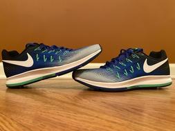 Nike Air Zoom Pegasus 33 Blue Grey White Running Shoes Men's