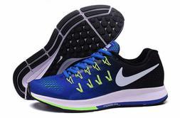 Nike Air Zoom Pegasus 33 Mens Running Training Shoes Blue Gr