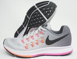 Nike Air Zoom Pegasus 33 Womens Running Shoes Grey White Mul