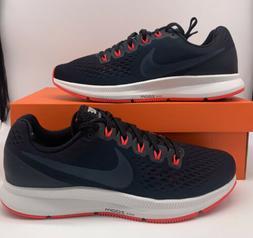Nike Air Zoom Pegasus 34 Mens Size Running Shoes Navy Blue R