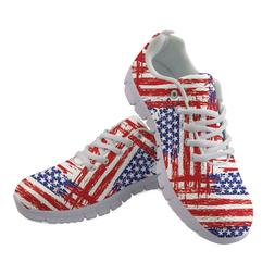 American Flag British Mens Casual Shoes Sneakers Running Gym