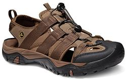 ATIKA AT-M107-BRN_Men 10 D Men's Sports Sandals Trail Outdoo