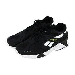 Reebok Aztrek CN7188 Mens Black Leather Casual Low Top Sneak