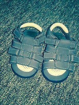 Run baby boy  sandals brown size 2 velcro fastening new