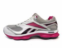 Reebok Big Kids' Girls RUN PRIME Running Shoes Steel/Pink V6
