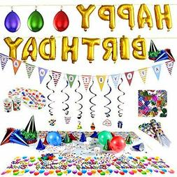 Birthday Party Supplies & Decorations with Foil Balloons  Ki