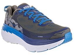 HOKA ONE ONE Mens Bondi 5 Charcoal Gray/True Blue Running Sh